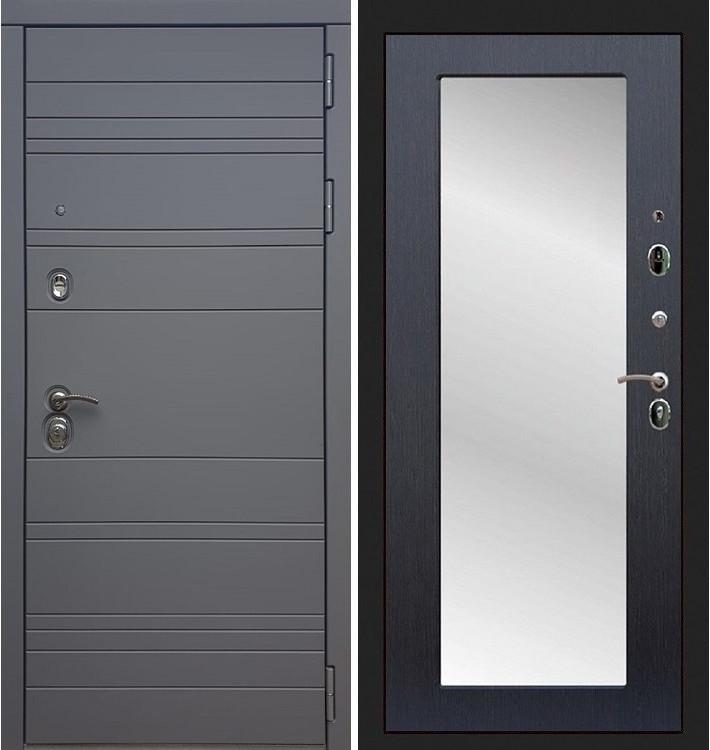 Входная дверь Сенатор 3К Графит софт / с зеркалом Венге (панель №37)