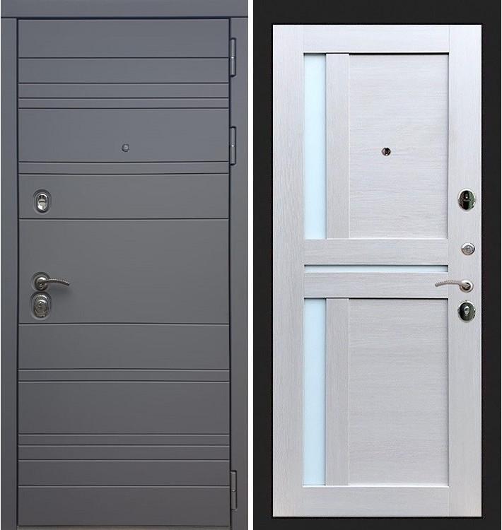 Входная дверь Сенатор 3К Графит софт / Баджио Ясень кремовый (панель №49)