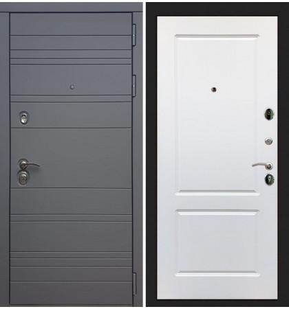 Входная дверь Сенатор 3К Графит софт / Белый софт (панель №5)
