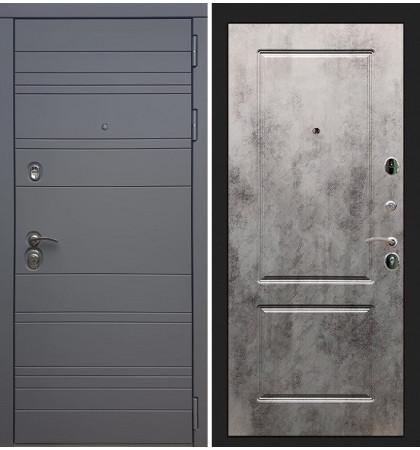 Входная дверь Сенатор 3К Графит софт / Бетон светлый (панель №5)