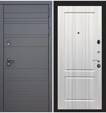 Входная дверь Сенатор 3К Графит софт / Сандал белый (панель №5)