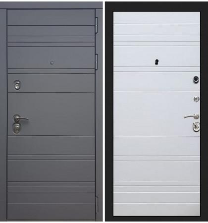 Входная дверь Сенатор 3К Графит софт / Белый софт (панель №63)