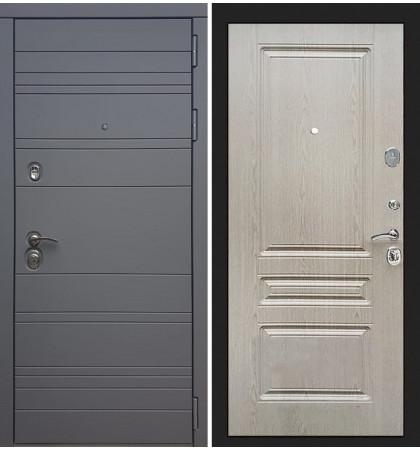 Входная дверь Сенатор 3К Графит софт / Беленый дуб (панель №94)