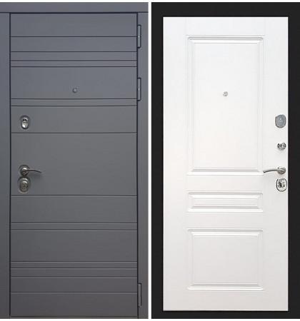 Входная дверь Сенатор 3К Графит софт / Белый софт (панель №94)