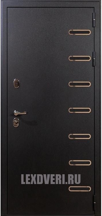 Дверь Витязь (Черный шелк)