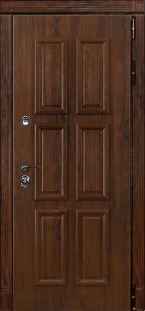 Дверь Лекс Сенатор 25 Дуб темный с багетом