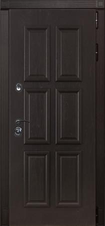 Дверь Лекс Сенатор 7 Ясень шоколад с багетом