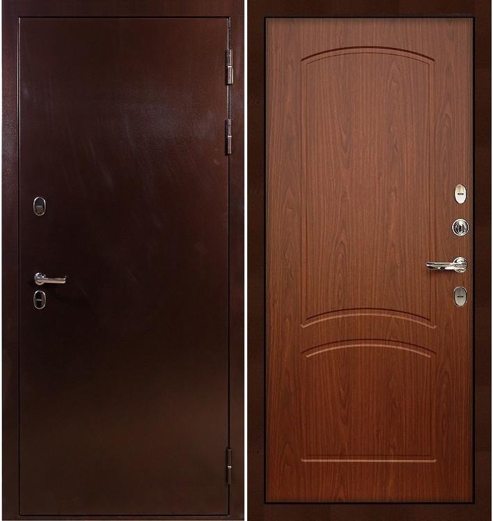 Входная дверь с терморазрывом Сибирь 3К / Береза мореная (панель №11)