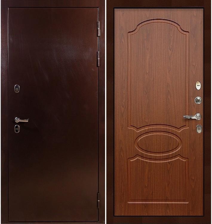Входная дверь с терморазрывом Сибирь 3К / Береза мореная (панель №12)
