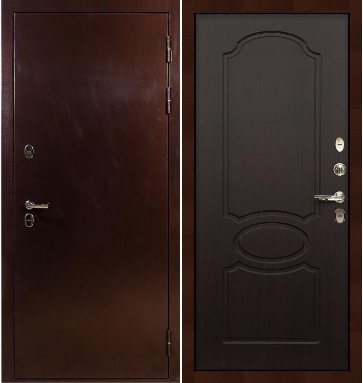 Входная дверь с терморазрывом Сибирь 3К / Венге (панель №13)
