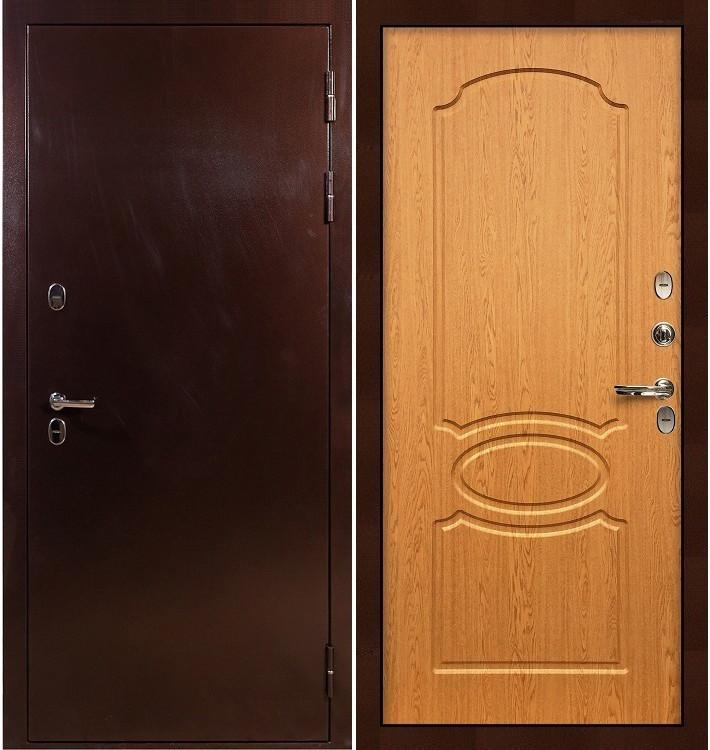 Входная дверь с терморазрывом Сибирь 3К / Дуб натуральный (панель №15)