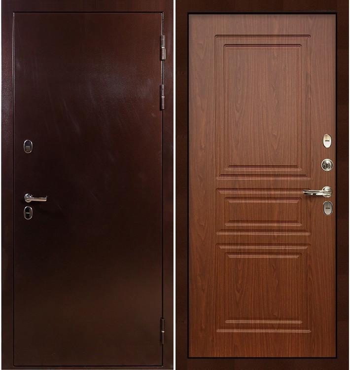Входная дверь с терморазрывом Сибирь 3К / Береза мореная (панель №19)