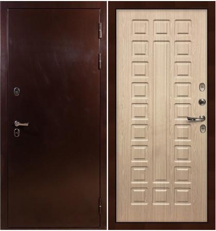 Входная дверь с терморазрывом Сибирь 3К / Беленый дуб (панель №20)