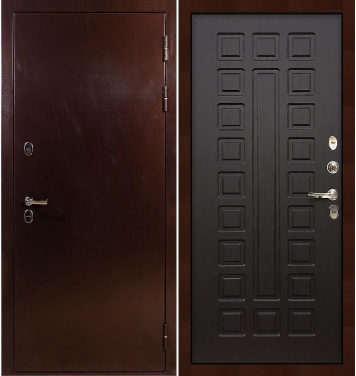 Входная дверь с терморазрывом Сибирь 3К / Венге (панель №21)