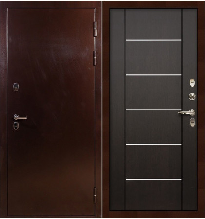 Входная дверь с терморазрывом Сибирь 3К / Венге (панель №24)