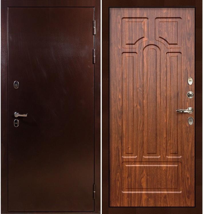 Входная дверь с терморазрывом Сибирь 3К / Береза мореная (панель №26)