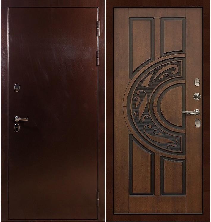 Входная дверь с терморазрывом Сибирь 3К / Голден патина (панель №27)