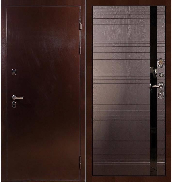 Входная дверь с терморазрывом Сибирь 3К / Ясень шоколадный (панель №31)