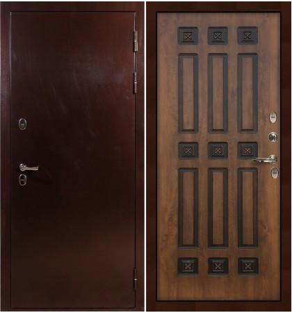 Входная дверь с терморазрывом Сибирь 3К / Голден патина (панель №33)