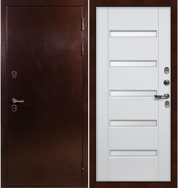 Входная дверь с терморазрывом Сибирь 3К / Белый ясень (панель №34)
