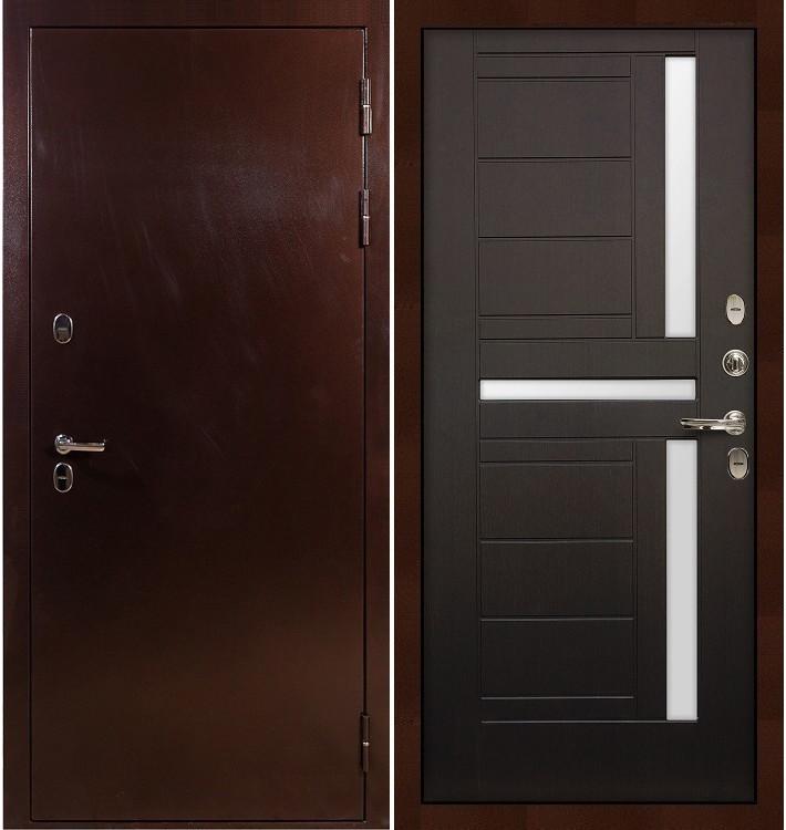 Входная дверь с терморазрывом Сибирь 3К / Венге (панель №35)