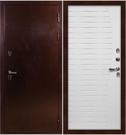 Входная дверь с терморазрывом Сибирь 3К / Волна Белый ясень (панель №36)