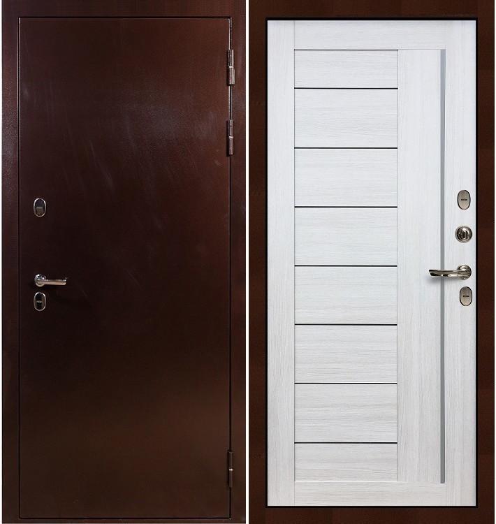 Входная дверь с терморазрывом Сибирь 3К / Верджиния Беленый дуб (панель №38)