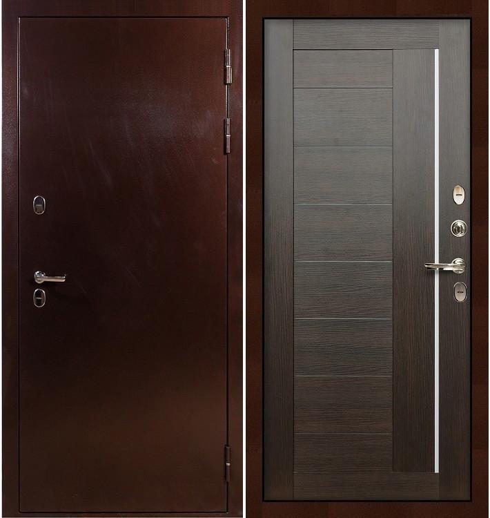 Входная дверь с терморазрывом Сибирь 3К / Верджиния Венге (панель №39)