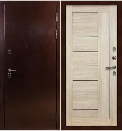 Входная дверь с терморазрывом Сибирь 3К / Верджиния Кремовый ясень (панель №40)