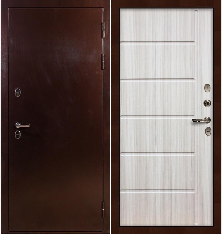 Входная дверь с терморазрывом Сибирь 3К / Сандал белый (панель №42)