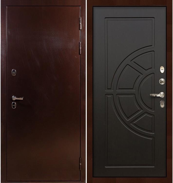 Входная дверь с терморазрывом Сибирь 3К / Венге (панель №43)