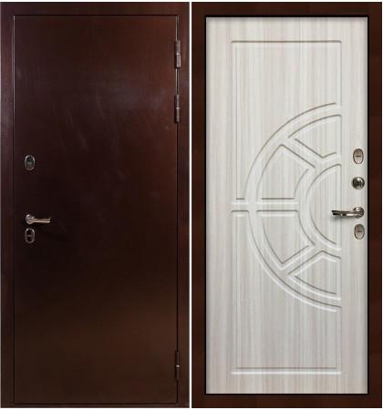 Входная дверь с терморазрывом Сибирь 3К / Сандал белый (панель №44)