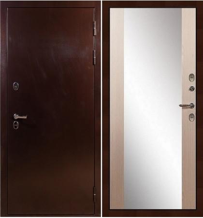 Входная дверь с терморазрывом Сибирь 3К / Стиль Беленый дуб (панель №45)