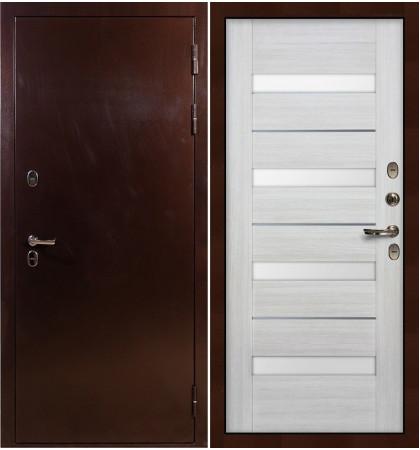Входная дверь с терморазрывом Сибирь 3К / Сицилио Беленый дуб (панель №46)