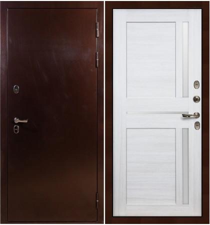 Входная дверь с терморазрывом Сибирь 3К / Баджио Беленый дуб (панель №47)