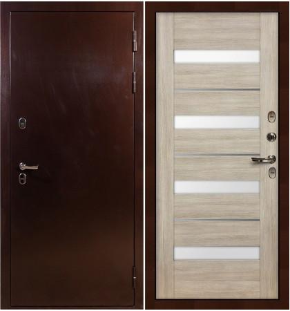Входная дверь с терморазрывом Сибирь 3К / Сицилио Ясень кремовый (панель №48)