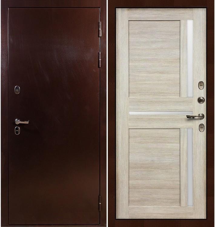 Входная дверь с терморазрывом Сибирь 3К / Баджио Кремовый ясень (панель №49)
