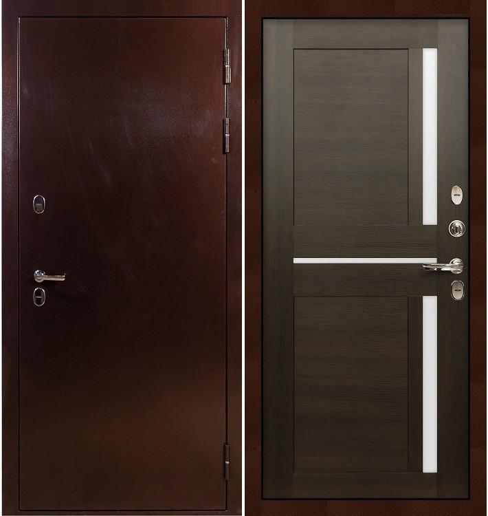 Входная дверь с терморазрывом Сибирь 3К / Баджио Венге (панель №50)