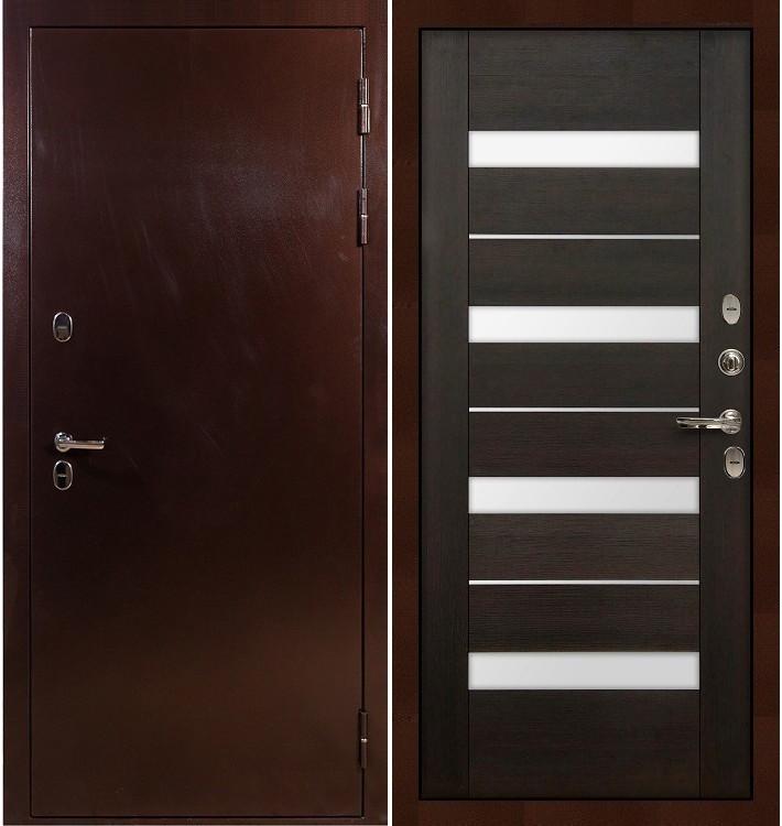 Входная дверь с терморазрывом Сибирь 3К / Сицилио Венге (панель №51)