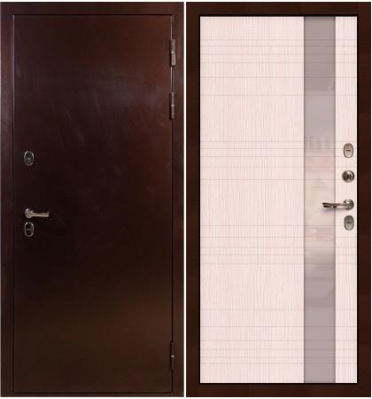 Входная дверь с терморазрывом Сибирь 3К / Новита Беленый дуб (панель №52)
