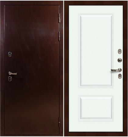 Входная дверь с терморазрывом Сибирь 3К / Вероника Белая эмаль (панель №55)
