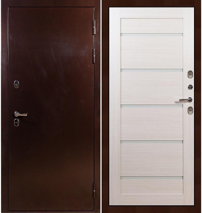 Входная дверь с терморазрывом Сибирь 3К / Клеопатра Беленый дуб (панель №58)