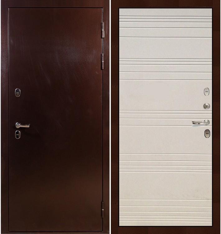 Входная дверь с терморазрывом Сибирь 3К / Дуб фактурный крем (панель №63)