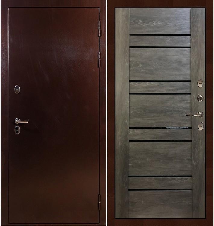 Входная дверь с терморазрывом Сибирь 3К / Терра Графит шале (панель №64)