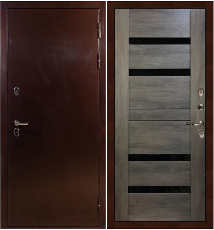 Входная дверь с терморазрывом Сибирь 3К / Неро Графит шале (панель №65)