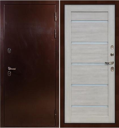 Входная дверь с терморазрывом Сибирь 3К / Клеопатра Ясень кремовый (панель №66)