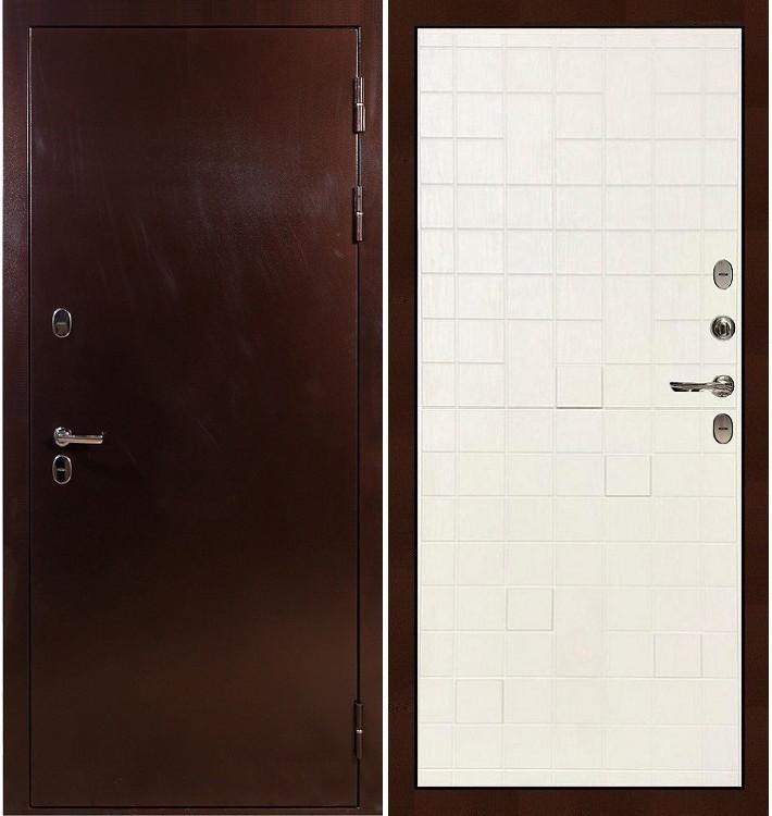 Входная дверь с терморазрывом Сибирь 3К / Белый ясень (панель №56)
