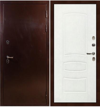 Входная дверь с терморазрывом Сибирь 3К / Белая шагрень (панель №68)