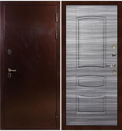 Входная дверь с терморазрывом Сибирь 3К / Сандал серый (панель №69)