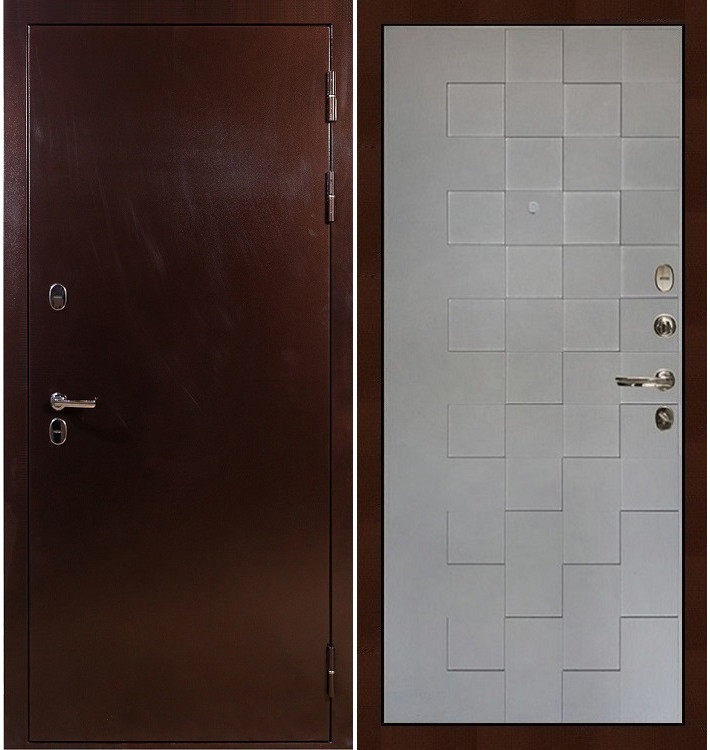 Входная дверь с терморазрывом Сибирь 3К / Квадро Графит софт (панель №72)